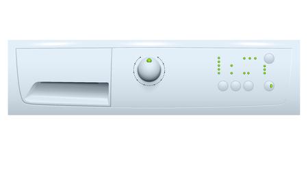 wash machine: illustration of part of wash machine on white background Illustration
