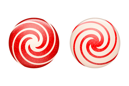 hard stuff: illustration of set of different types of candies