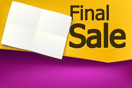 discount banner: illustration of bright colored sale, discount banner