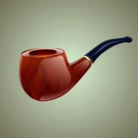 smoking pipe: illustration of smoking pipe on grey background