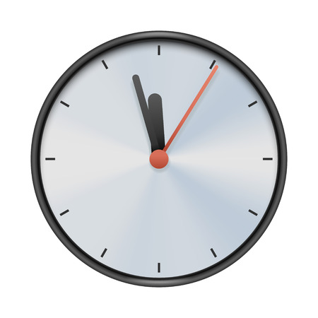 realictic: illustration of realictic classic clock isolated on white