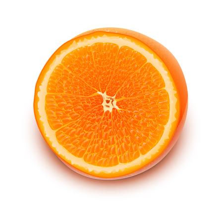 photo realism: illustration of photorealistic orange with shadow Illustration