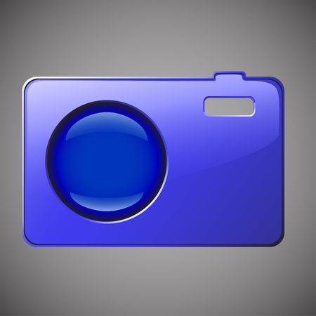 wit: illustration of concept of camera colored wit hlens