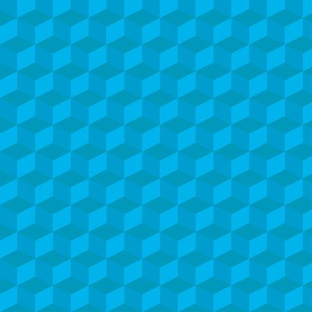 pyramidal: illustration of isometric cube background blue color