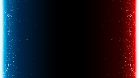 illustration of different color light swords on dark background