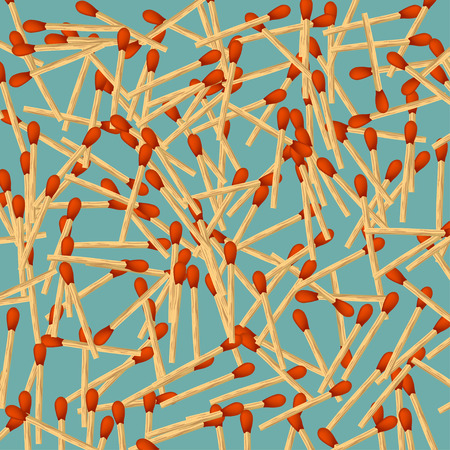 small group of objects: illustration of many matches lying on bright background Illustration