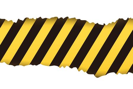 stipes: illustration of torned stipes background yellow black color