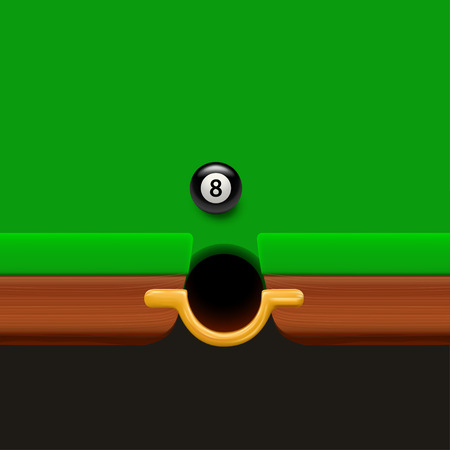 illustration of part billiard table realistic with dark background