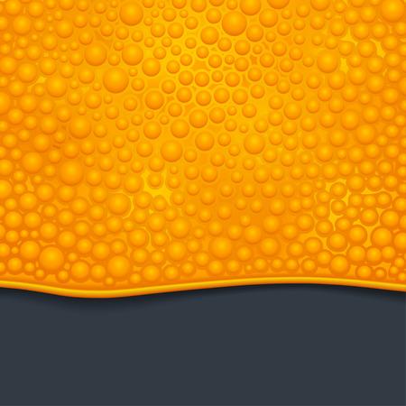 ooze: illustration of orange color bubble slime on dark background