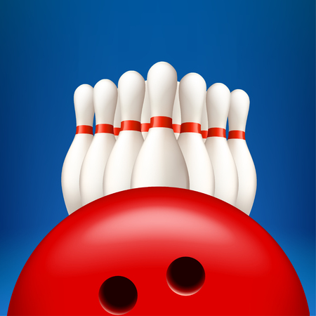 bowling pind with ball Illustration