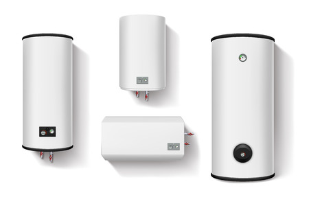 water heater set Иллюстрация