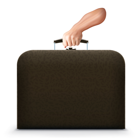 brief case with hand