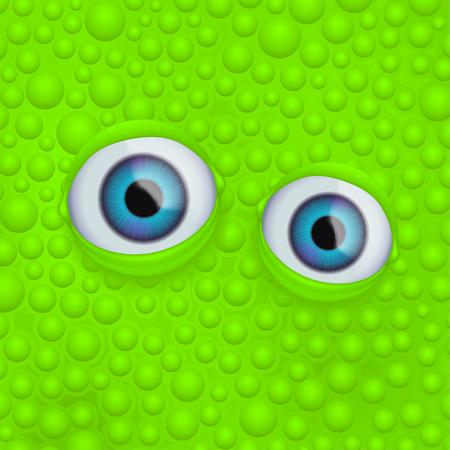 eyes on green fluid Illustration