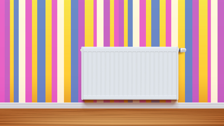 radiator on wall 01 Illustration