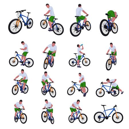 Cyclist set 013 矢量图像