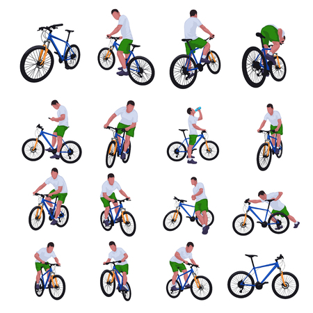 Cyclist set 013 Stock Illustratie
