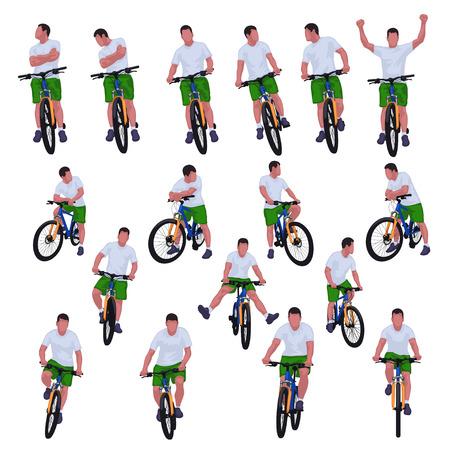 cyclist set 012