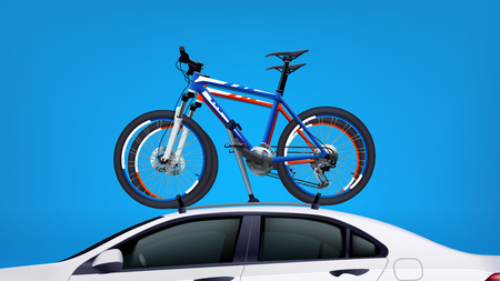 bicycles on car Illustration