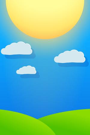 vista: Big sun and blue sky