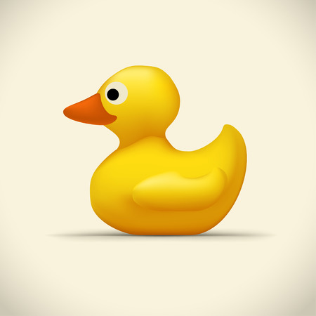 Toy duck on bright