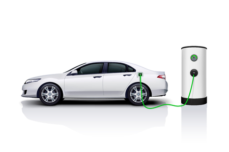 electric car charging Иллюстрация