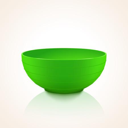 convenient: green plastic bowl