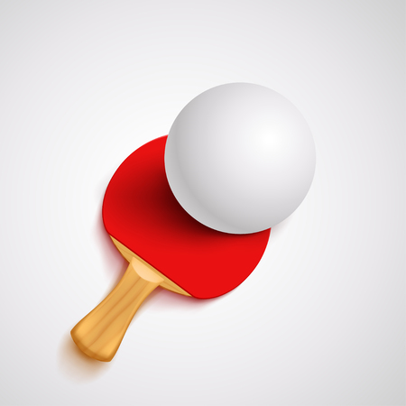 red ping pong racket