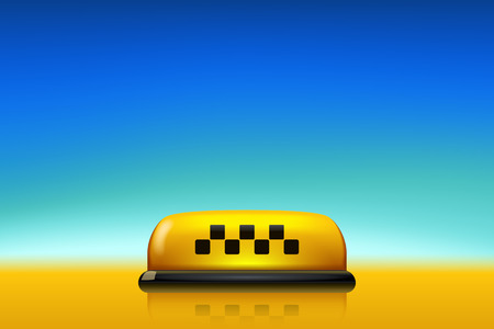 taxi with blue sky Illustration