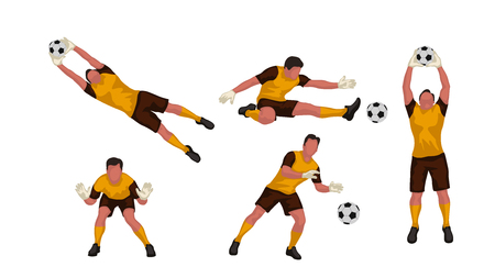 Goal keeper set Stock Illustratie