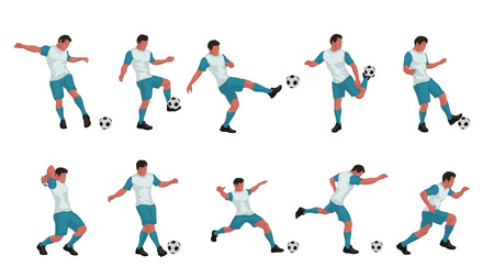 soccer player colored set