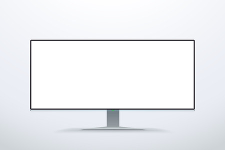 led display: wide screen white color monitor