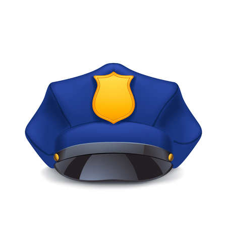 police cap with shadow Illustration