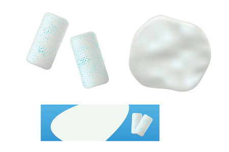 chewing gum set 矢量图像