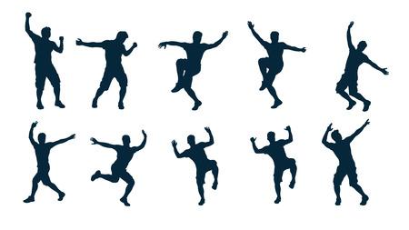 danseur silhouette masculine