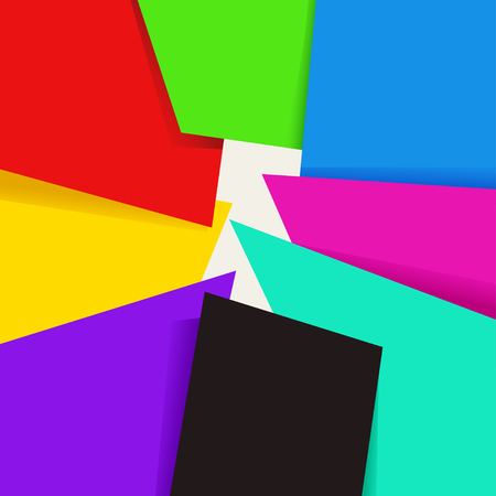 paper note: colored paper background