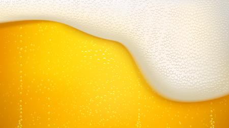 많은 거품과 라거 맥주 배경 그림 일러스트