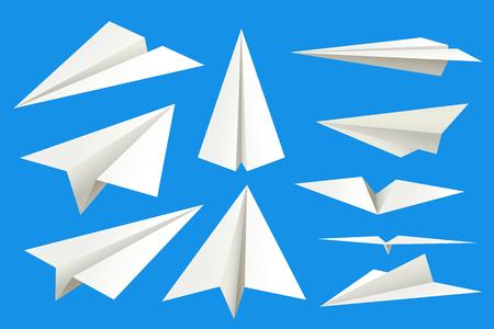 papieren vlakken op blauw Stock Illustratie