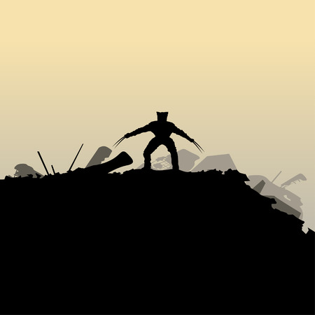 black mutant silhouette