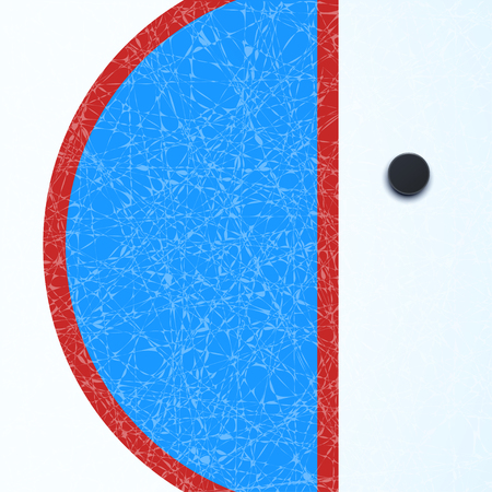 hockey surface with puck