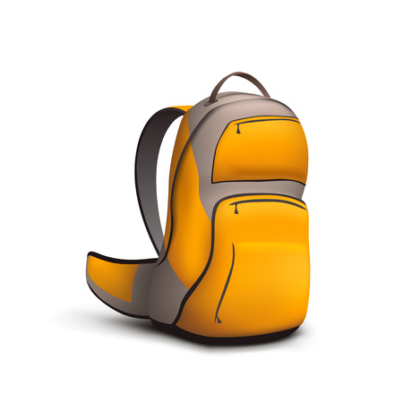 Backpack colored on white Vectores