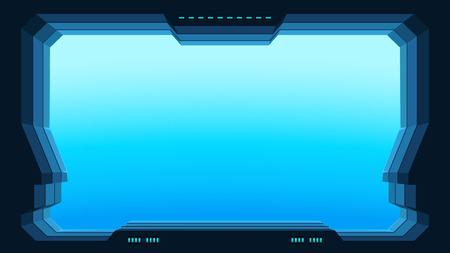 Futuristic window view