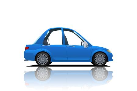 cartoon blue car Illustration