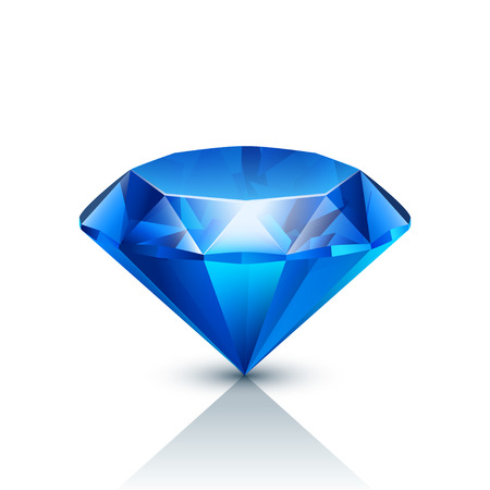blue jewels on white background