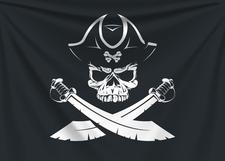 pirate icon flag Banque d'images - 103042585