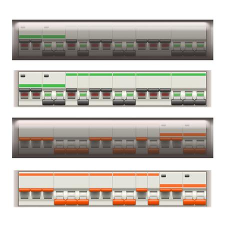 electric switches set Ilustração
