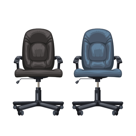 office chairs isolated Illustration