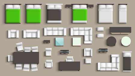 grand ensemble de meubles Vecteurs
