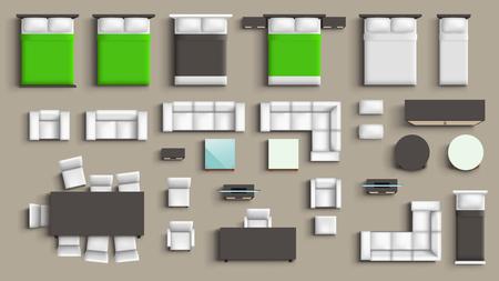 Möbel großes Set Vektorgrafik