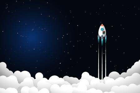 rocket flyong up