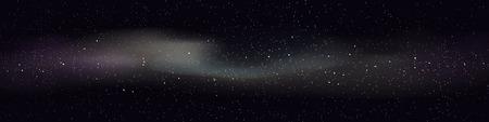large illustration de l'espace lointain avec beaucoup d'étoiles et de nuages colorés